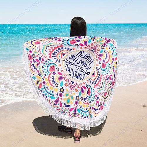 toalla redonda mandala manta pareo playa piscina verano