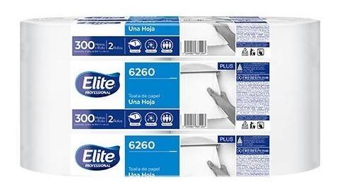 toalla rollo elite jumbo premium simple hoja 2 x 300 mts.