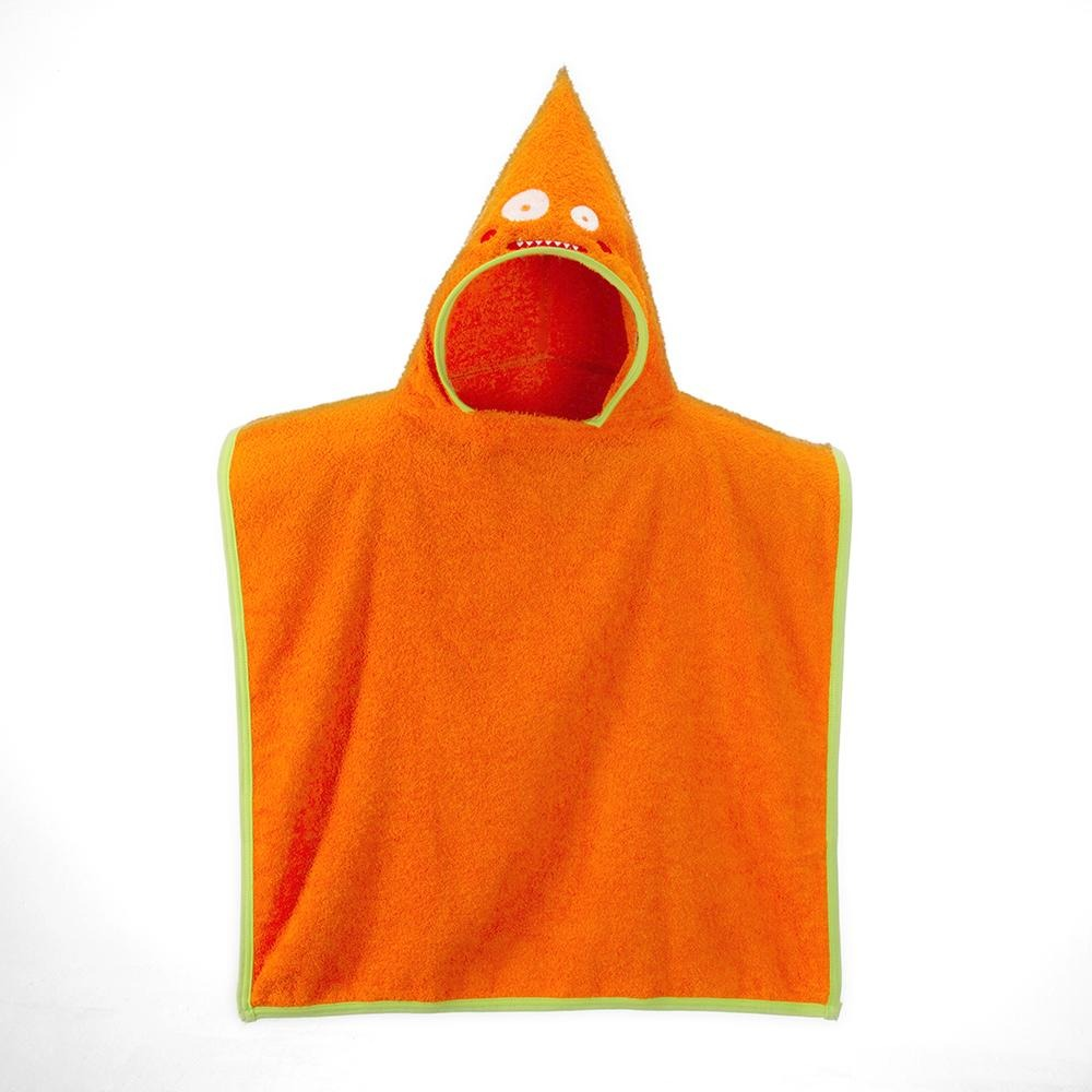 2fab76f4721 toalla tipo poncho con capucha naranja 100% algodón para niñ. Cargando zoom.