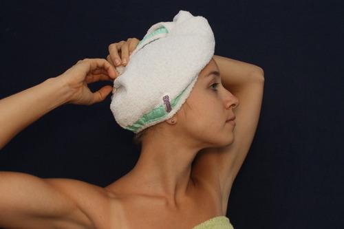 toalla turbante  para el cabello donali!!! sentite libre!!