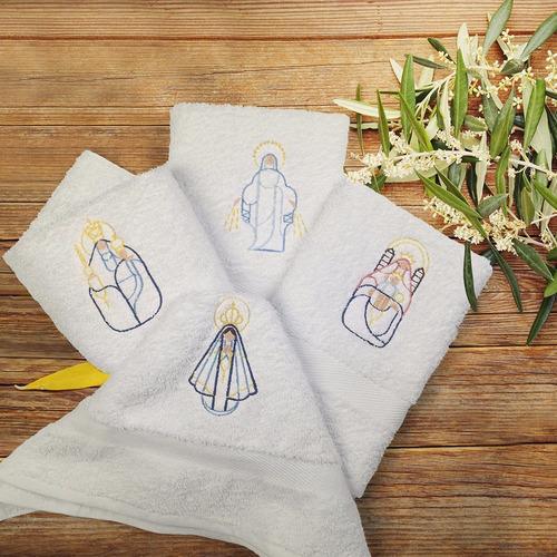 toallas ama de casa mano devoción mariana + denario regalo