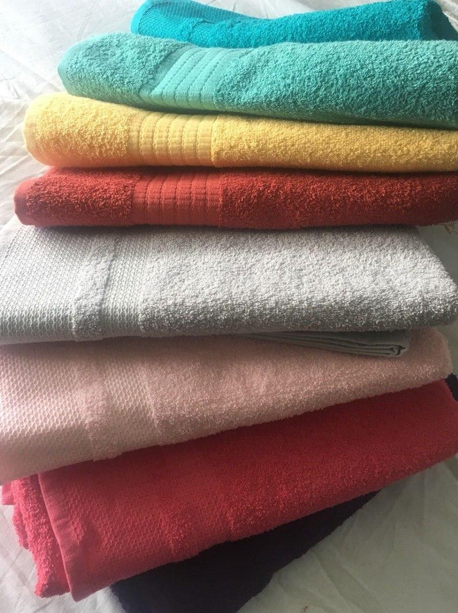 Toallas Baño Completo Lisas Varios Colores Algodón 100% ...