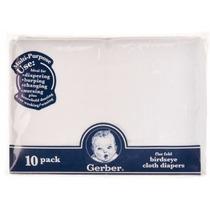 Set De 10 Pañitos Gerber - Blanco