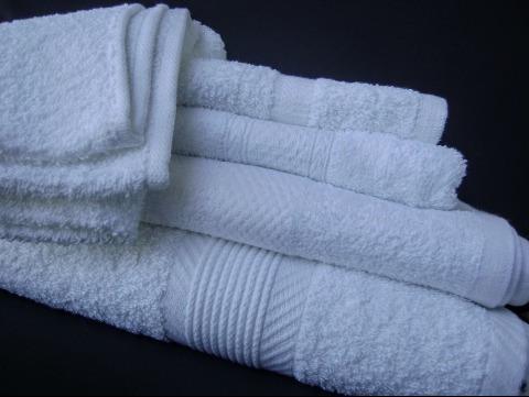 toallas blancas faciales 32x32 al mayor