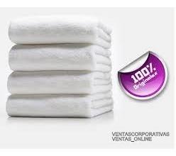 toallas  blancas hoteleras 120x60 ama de  casa sensacion
