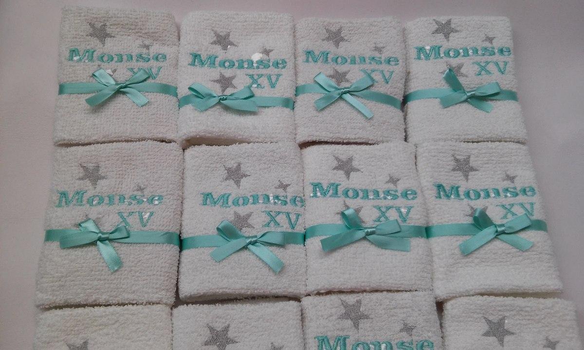 Toallas bordadas bodas xv a os recuerdos en for Soporte para toallas de bano