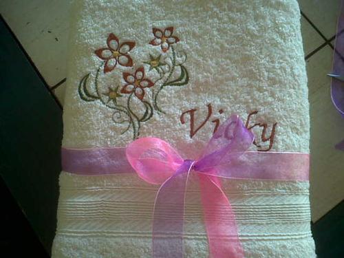 toallas bordadas personalizadas