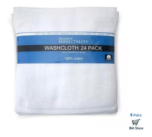 toallas de baño grandeur hospitality para manos 24 piezas