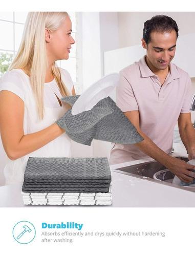 toallas de cocina zeppoli 100% algodón 38.1x63.5cm 12 uds