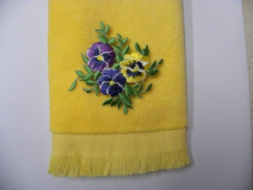 toallas de mano,amarillo pensamientos de la mano del bañ..