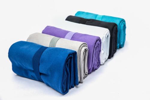 toallas de microfibra color gris oscuro