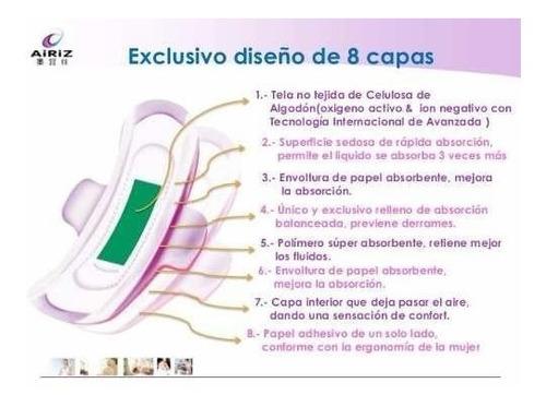 toallas ecologicas sanitarias femeninas airiz tiens dia