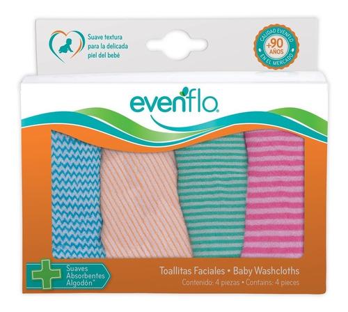toallas faciales evenflo 4 piezas 5181 suaves lavable
