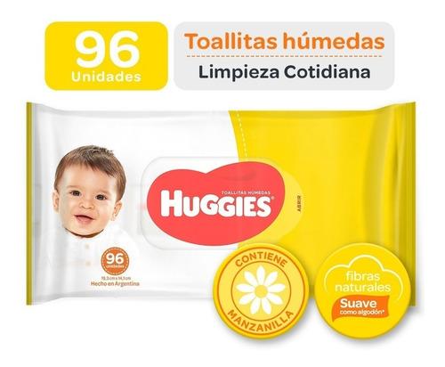 toallas húmedas huggies limpieza cotidiana x 96