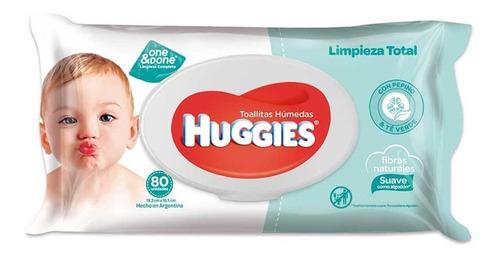 toallas humedas huggies limpieza total one&done x80 unidades