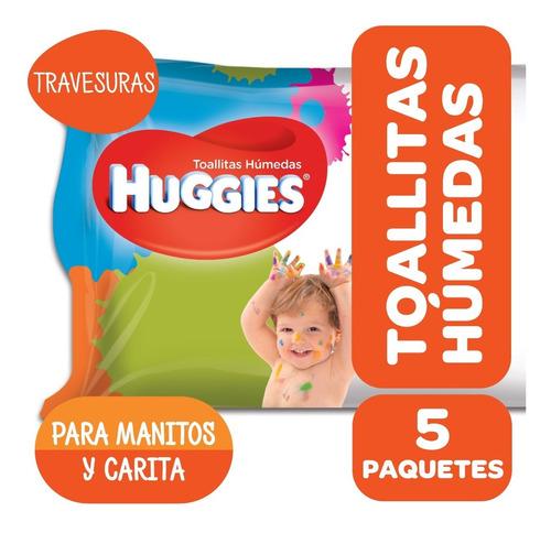 toallas húmedas huggies manitos y carita travesuras pack x 5