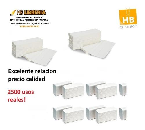 toallas intercaladas para mano blancas 20x24 2500u reales