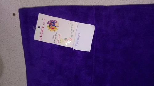 toallas microfibra lucky felpa de pelo largo 140cm x70cm