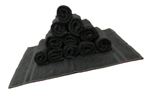 toallas profesional peluquería negra  12 unidades
