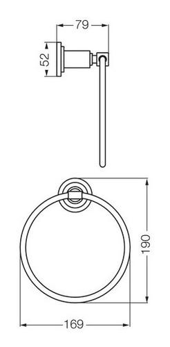 toallero baño accesorio