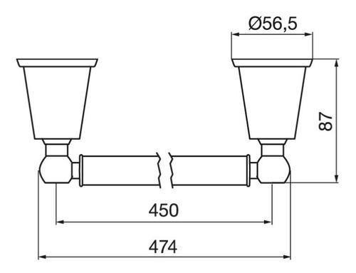 toallero barral fv chess cromado metálico 0164/84 de baño
