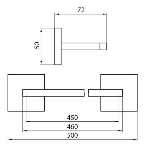 toallero barral fv dominic 0164r/85 accesorio metal cromo