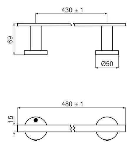 toallero barral fv nebraska triades metalico 164/c3