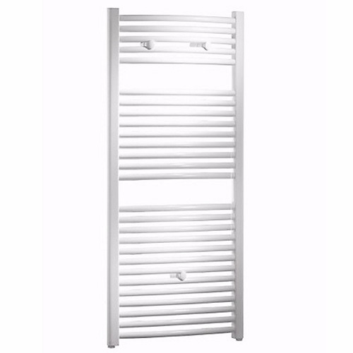 toallero blanco radiador calefacción por agua curvo1200 x500