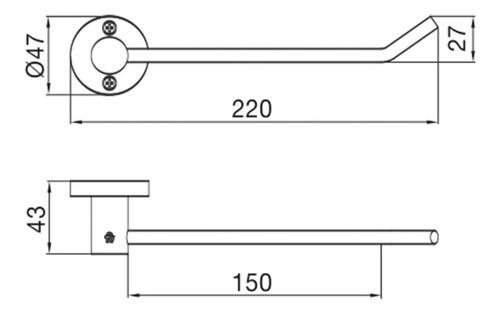 toallero corto fv arizona cromo metálico 0163/b1 accesorio