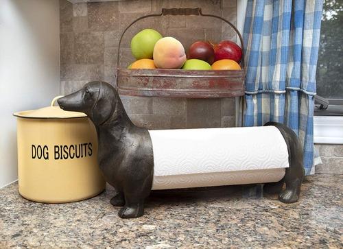 toallero de papel para cocina - diseño perro