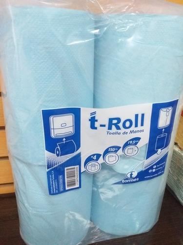 toallin espiral  rollo 150 metros / bulto de 12 unidades.