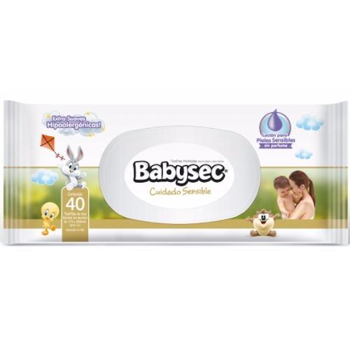 toallitas babysec cuidado sensible 40 unidades