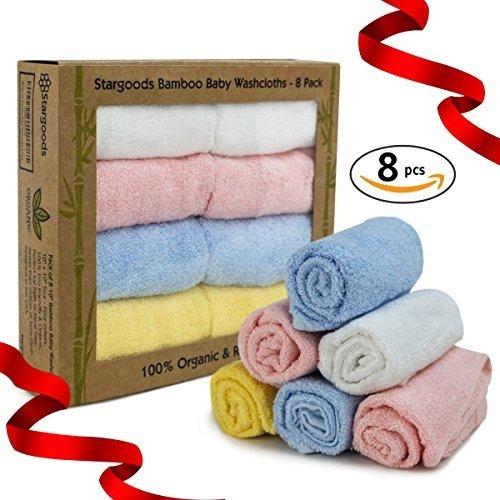 toallitas de baño de bambú para cara y baño, juego de 8 toal