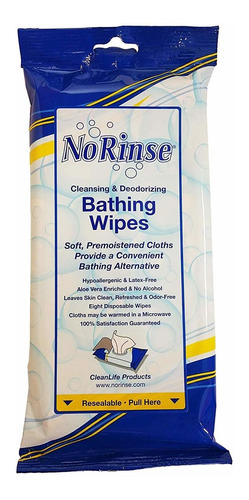 toallitas de baño de cleanlife products, prehumedecidas...