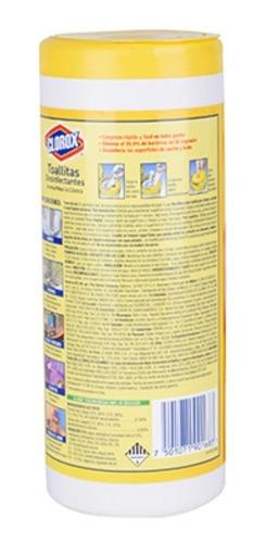 toallitas desinfectantes clorox limón 35 toallas elimina 99%