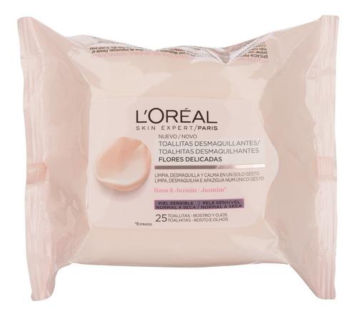 toallitas desmaquillantes piel seca sensible loréal 25 u