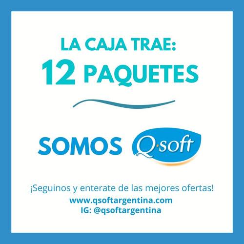 toallitas desmaquillantes q-soft agua micelar (12 paquetes)