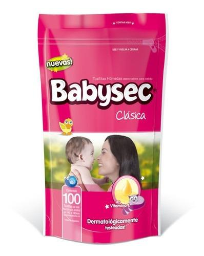 toallitas húmedas babysec clásicas x100