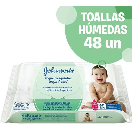toallitas humedas johnson's® baby   toque fresco x 48