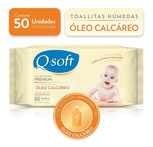 toallitas húmedas premium óleo calcáreo (caja mayorista)
