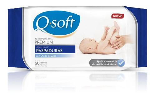 toallitas húmedas premium q-soft anti-paspaduras (16 paq)