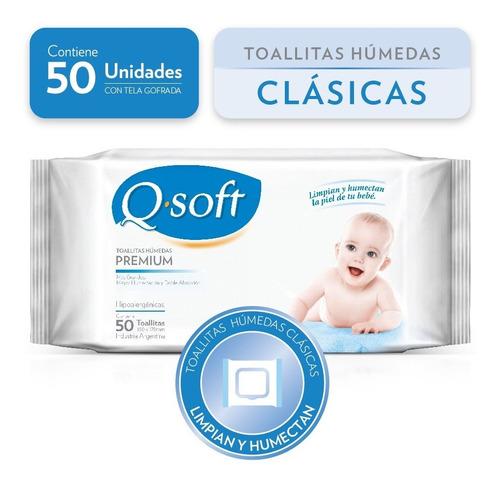 toallitas húmedas premium q-soft clásicas (16 paquetes)