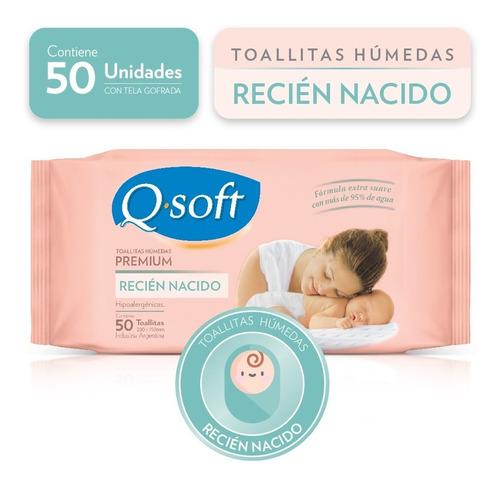 toallitas húmedas premium q-soft recién nacido (16 paquetes)