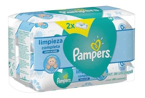 toallitas limpiadoras humedas pampers limpieza completa x96u