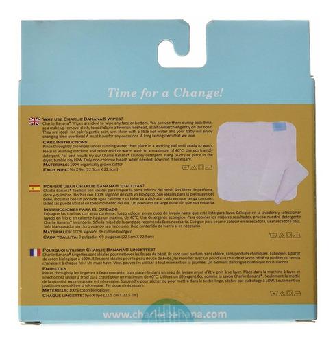 toallitas reutilizables algodón orgánico charli envio gratis