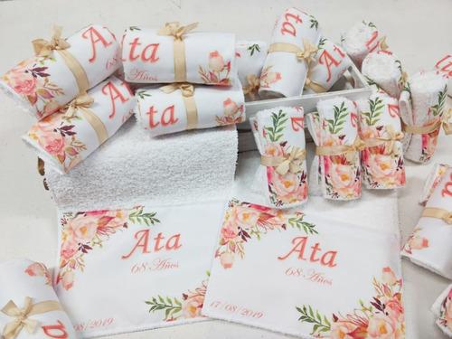 toallitas souvenirs personalizadas kit *10 unidades
