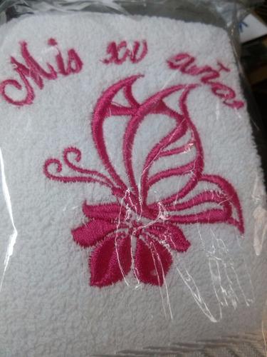 toallitas toallas bordadas recuerdo bautizo boda comunion xv