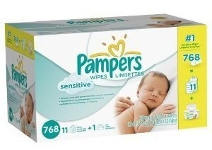 toallitas y recambiospampers sensitive wipes (1536 toalli..