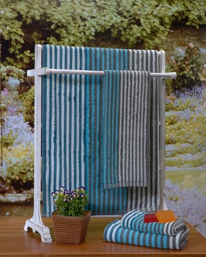 toallon grande 70 x 140 danubio fancy 100% algodón 420 grs