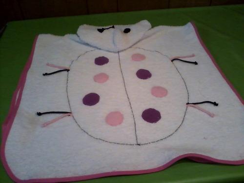 toallon -ponchito de toalla.c/capucha
